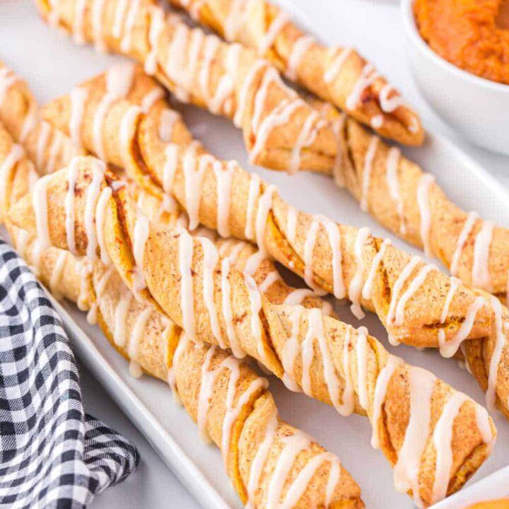 Air Fryer Pumpkin Pie Twists