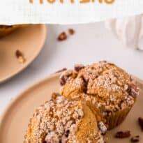 pumpkin crumb muffins pin