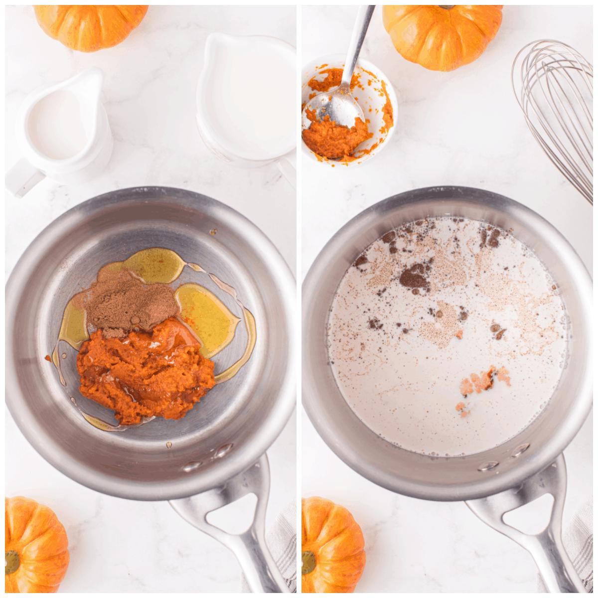 how to make pumpkin spice creamer
