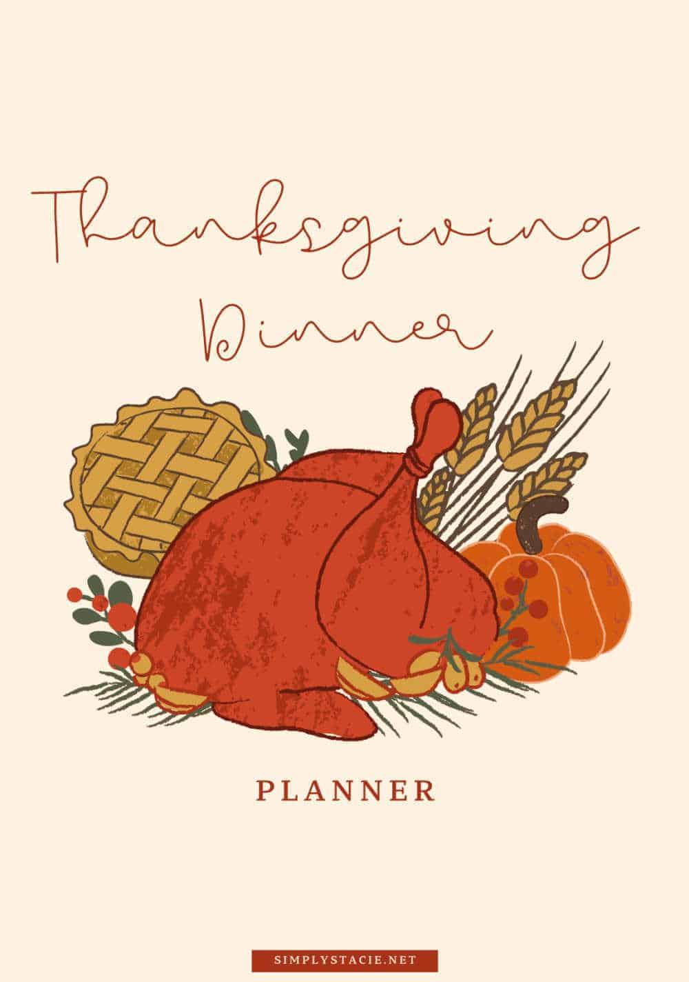 thanksgiving dinner planner cover sheet